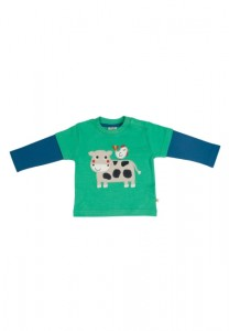Frugi Cow Applique Top