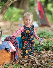 Frugi Forest Floral Willow Cord Dungarees