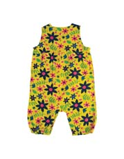 Frugi Forest Floral Willow Cord Dungarees - Saffron