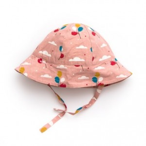 LGR Pale Pink Balloons Reversible Summer Hat
