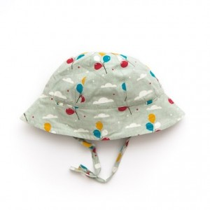 LGR Pale Aqua Balloons Reversible Summer Hat