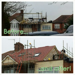 before and after_roof